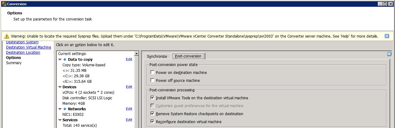 VMware_Server2003_Conversion1