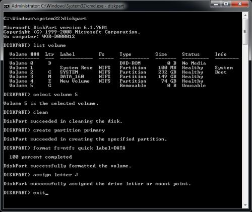 DiskPart_Format