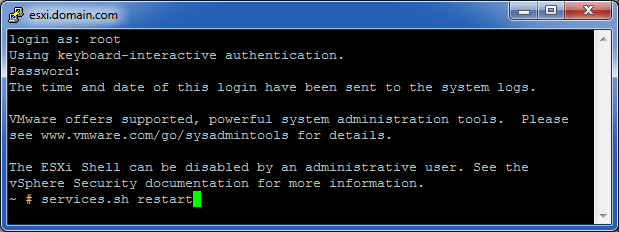 VMWare_SSH_Restart_Management