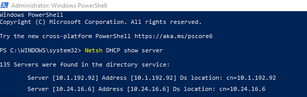 Windows_DHCP_Authorised_Servers_Netsh